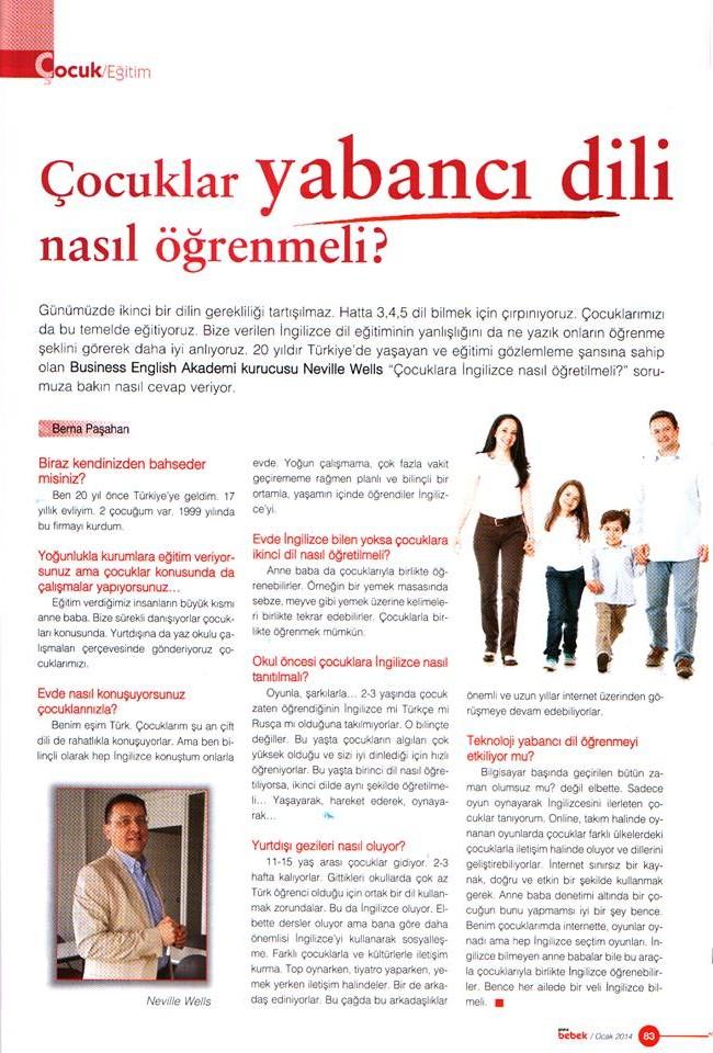 Anne Bebek dergisi röportajımız