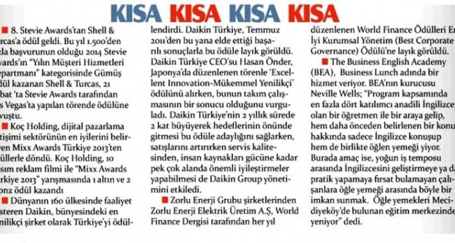 Hürriyet İK- Business Lunch